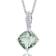 Cushion Cut Gemstone Pave Pendant