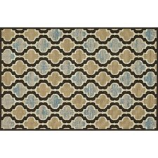 Arbor Chocolate/Blue Rug