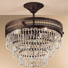 Renaissance 3 Light Semi-Flush Mount