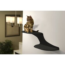 Clouds Wall Mounted Faux Fur and Metal Cat Perch