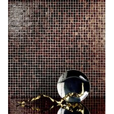 "Monocolor 13"" x 13"" Glass Mosaic in Brunito Bronze"