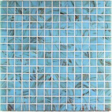 "Monocolor 13"" x 13"" Glass Mosaic in Azzurro Bronze"