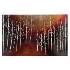 Abstract Trees Metal Wall Plaque