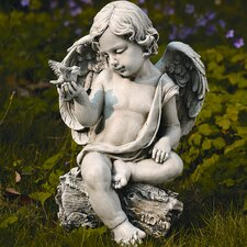 Cherub with Dove Statue