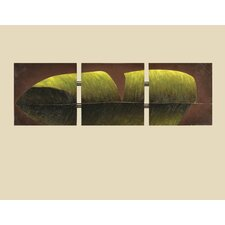 Tri-Banana Leaf Wall Art