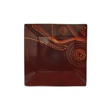 "Organic Brown 10.5"" Square Dinner Plate (Set of 4)"