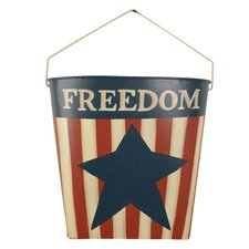 "Metal ""Freedom"" Wall Basket"