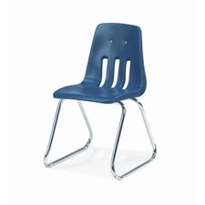 "9000 Series 16"" Plastic Classroom Sled-Based Chair"