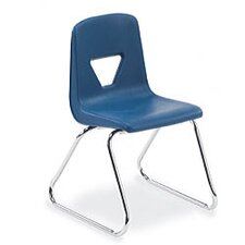 "2000 Series 16"" Polypropylene Classroom Sled Stacking Chair"
