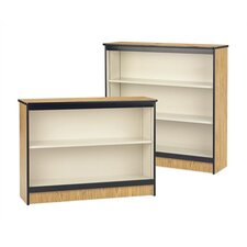 "48"" H Steel Frame Bookcase with Laminated Surface"