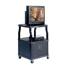 Wide-Body Plastic Cart w/ Cabinet