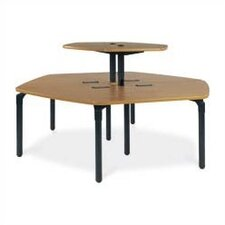 "Single Technology Table (37"" x 84"") with Top Shelf"