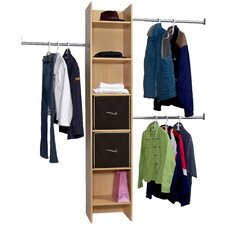 Closet Organizer Tower and Rods