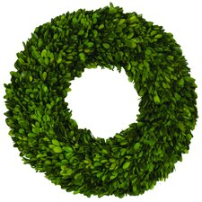 Single Side Boxwood Wreath