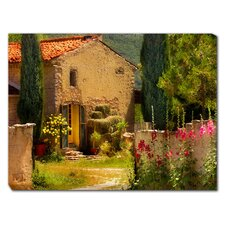French Farm House Outdoor Canvas Art