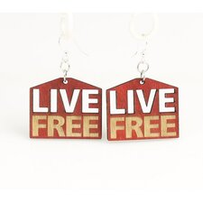 Live Free Drop Earrings