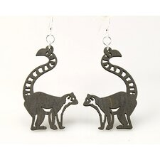 Ring-Tailed Lemur Earrings