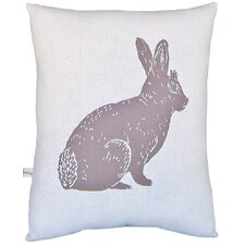 Bunny Block Print Squillow Accent Pillow