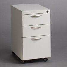Mobile Pedestal with Two Box Drawers and One File Drawer