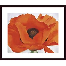Red Poppy by Georgia Okeefe Wood Framed Art Print