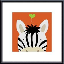 Peek-A-Boo Zebra by Yuko Lau Metal Framed Art Print