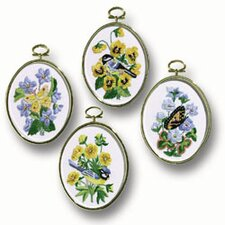 Birds and Butterflies Embroidery Frames (Set of 4)