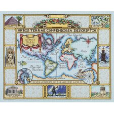 Wonders of the Ancient World Map Counted Cross Stitch