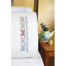 Butterfly XS Pillowcase Stamped Cross Stitch Pair