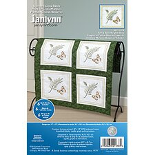 Fern & Butterfly Quilt Blocks Stamped Cross Stitch