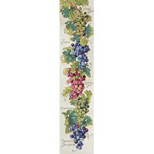 Grapes Bell Pull Counted Cross Stitch