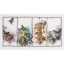 Four Seasons Birds Counted Cross Stitch