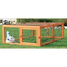 Outdoor Small Animal Run with Mesh Cover