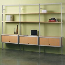 "Envision® 84"" H 1 Add-On Section Storage System with 1 Credenza and 2 Shelves"