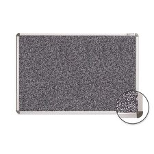 Rubber Tackboard w/ Mounting Hardware, Black Gray
