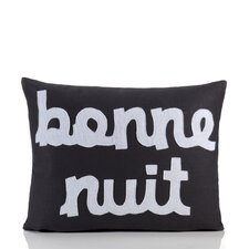 """Bonne Nuit"" Decorative Pillow"