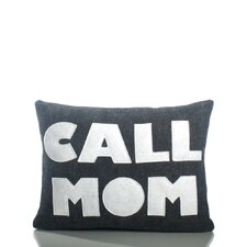"""Call Mom"" Decorative Pillow"