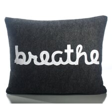 "Zen Master ""Breathe"" Decorative Pillow"