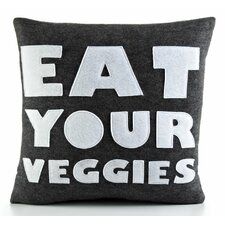 "Good Advice ""Eat Your Veggies"" Decorative Pillow"
