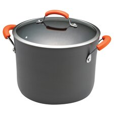 Rachael Ray 10 Qt. Stockpot with Orange Handles