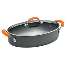 Rachael Ray 5 Qt. Sauté Pan with Orange Handles