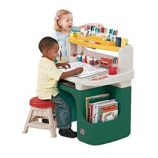 Art Master Activity Desk in Green & White