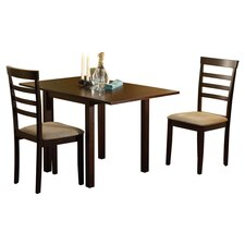 Madison 3 Piece Dining Set in Brown