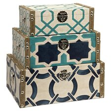 Hadley 3 Piece Box Set in Ivory & Blue