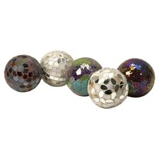 Abbot Mosaic 5 Piece Deco Ball Set