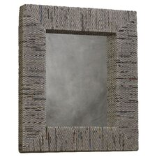 Newspaper Rectangular Mirror in Natural