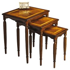 Masterpiece 3 Piece Nesting Table Set in Olive Ash Burl