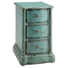 Painted Treasures End Table in Aqua
