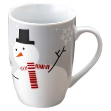 Rachael Ray Little Hoot & Snowman Mug
