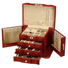Burlwood Jewelry Box in Cherry