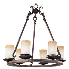 Campania 6 Light Chandelier in Bronze